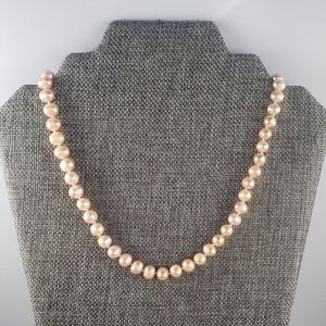"REAL 7mm 17"" Peach Pearl Strand"